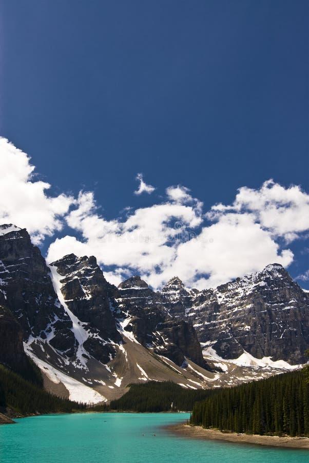 Moraine See im Banff-Nationalpark, Kanada stockfoto