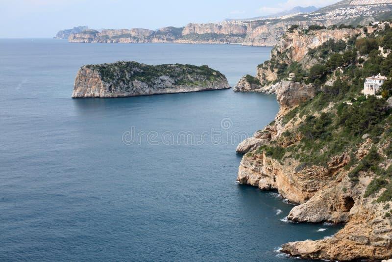 Download Moraira coast stock photo. Image of bluff, beach, spain - 20913134