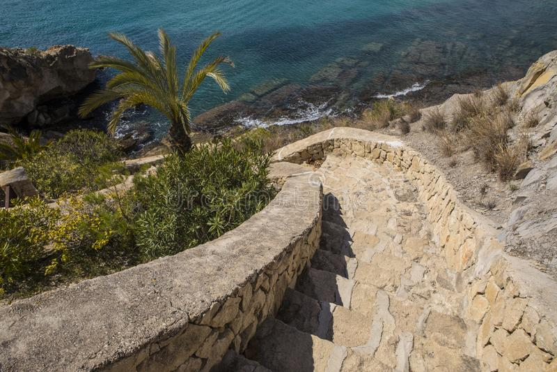 Moraira en Espagne photo stock