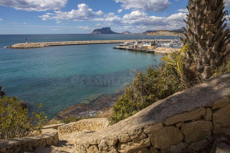 Moraira en Espagne image stock