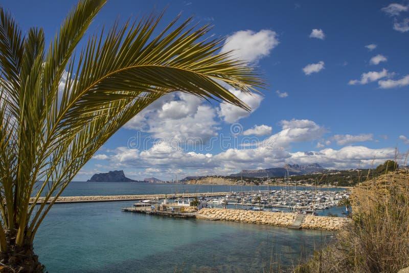 Moraira en Espagne images stock