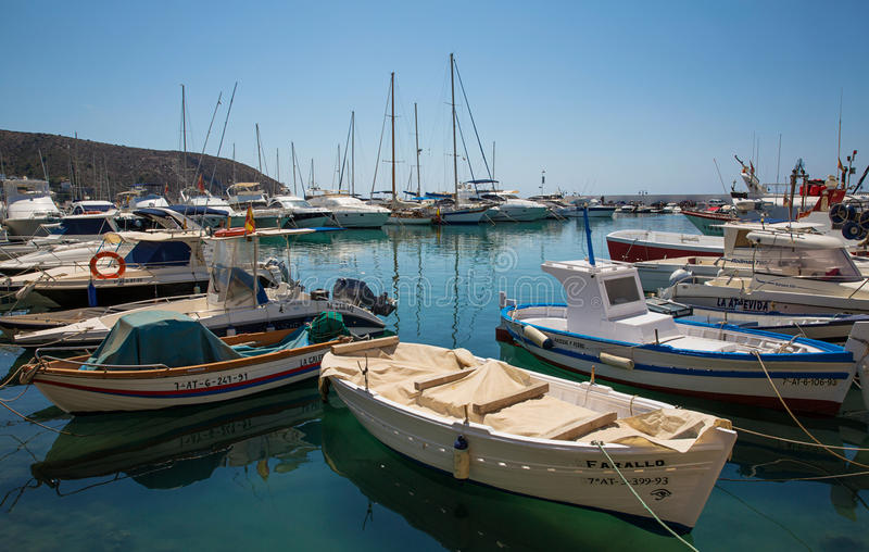 Moraira nautic port royalty free stock photos