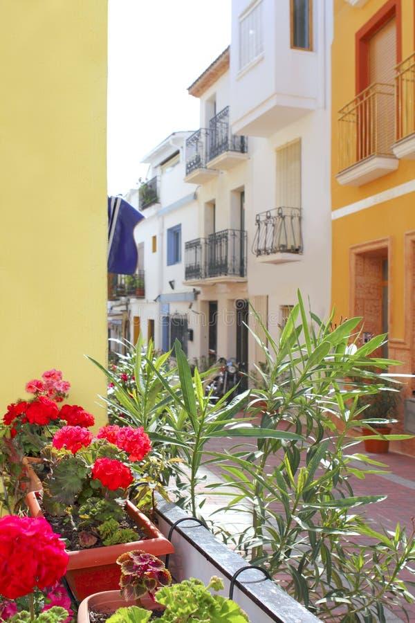 Free Moraira Teulada Mediterranean Village Streets Royalty Free Stock Photography - 15362627