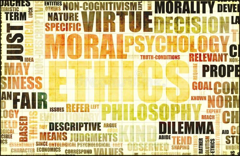 Moralische Ethik lizenzfreie abbildung