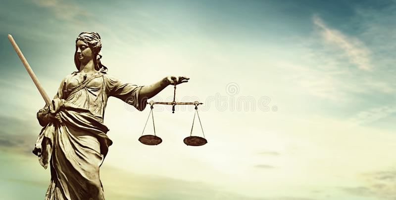 Moralisches Justizwesen Dame Justice stockfoto