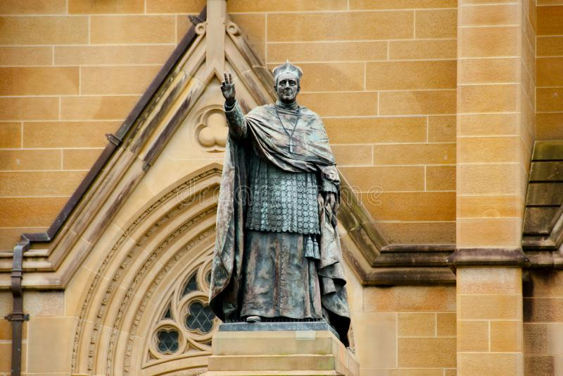 Moran Statue cardinal à St Mary Cathedral image libre de droits