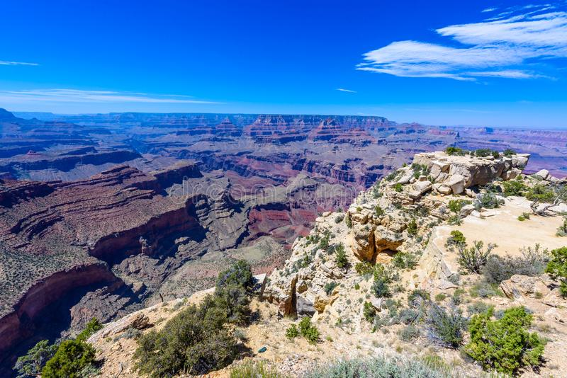 Moran View Point no parque nacional de Grand Canyon, o Arizona, EUA foto de stock royalty free