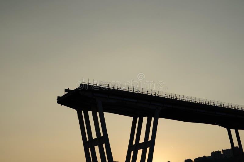 Morandi se derrumbó puente en Génova imágenes de archivo libres de regalías