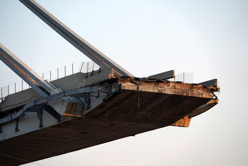 Morandi se derrumbó puente en Génova foto de archivo libre de regalías