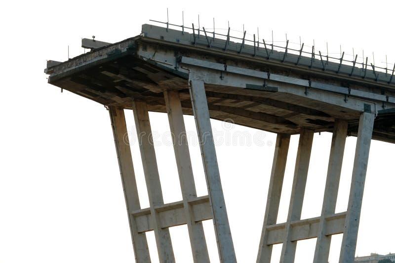 Morandi se derrumbó puente en Génova foto de archivo