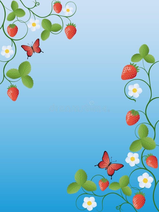 Morango ilustração stock