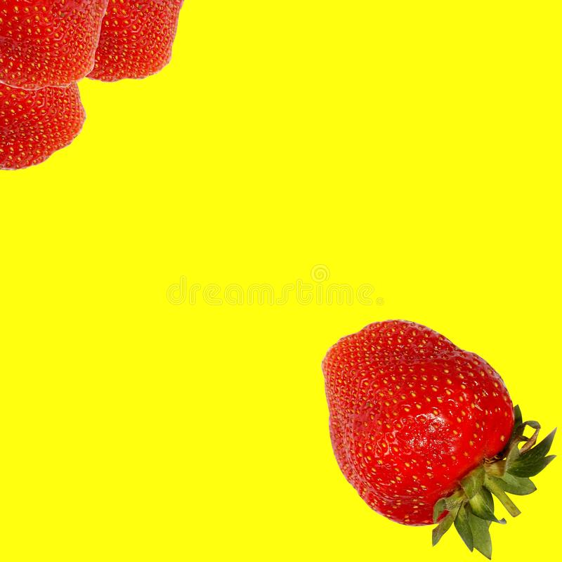 a morango bonita voa a outro foto de stock royalty free