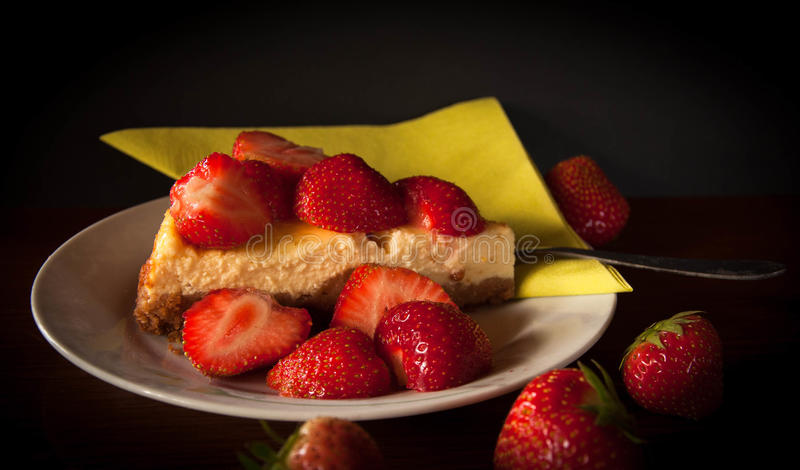 Morango cake foto de stock royalty free