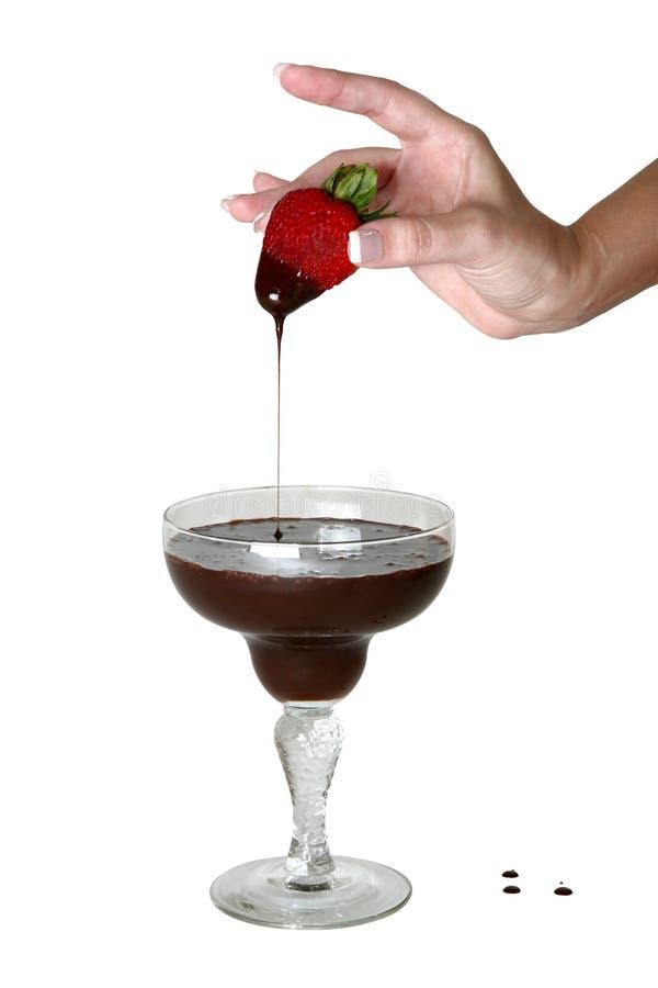 Morango do chocolate fotografia de stock