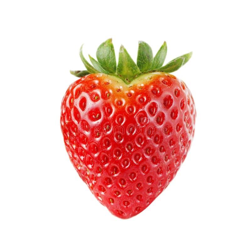 Morango Heart-shaped foto de stock