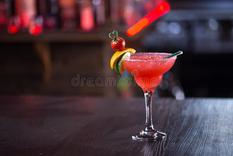 Morango Margarita Cocktail fotos de stock royalty free