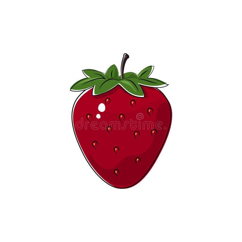 Morango vermelha no branco ilustração stock