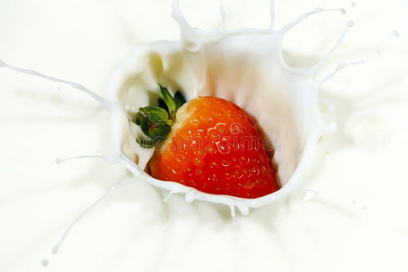 Download Morango Vermelha Que Faz Um Respingo Foto de Stock - Imagem de doce, alimento: 107529266
