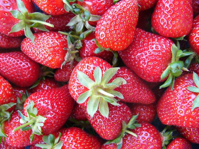 Download Morangos foto de stock. Imagem de fundo, cesta, vermelho - 53768