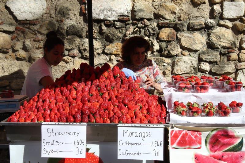 Morangos de Lisboa imagens de stock royalty free