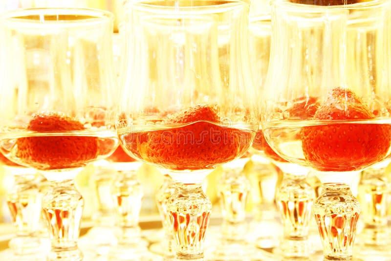Morangos No Licor Fotos de Stock Royalty Free