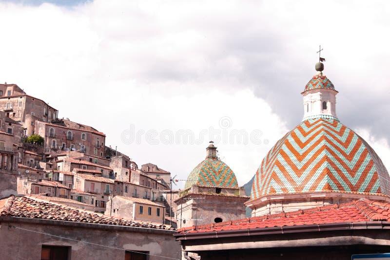Morano Calabro è provincia Di Cosenza della zona della των Η.Ε comune calabrese settentrionale στοκ φωτογραφία