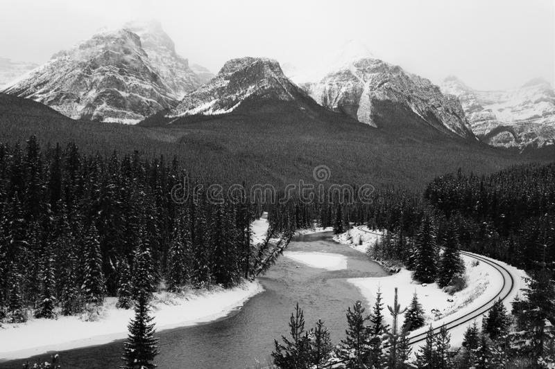 Morants Cure - Bow Valley Parkway near Lake Louise, AB royalty free stock images