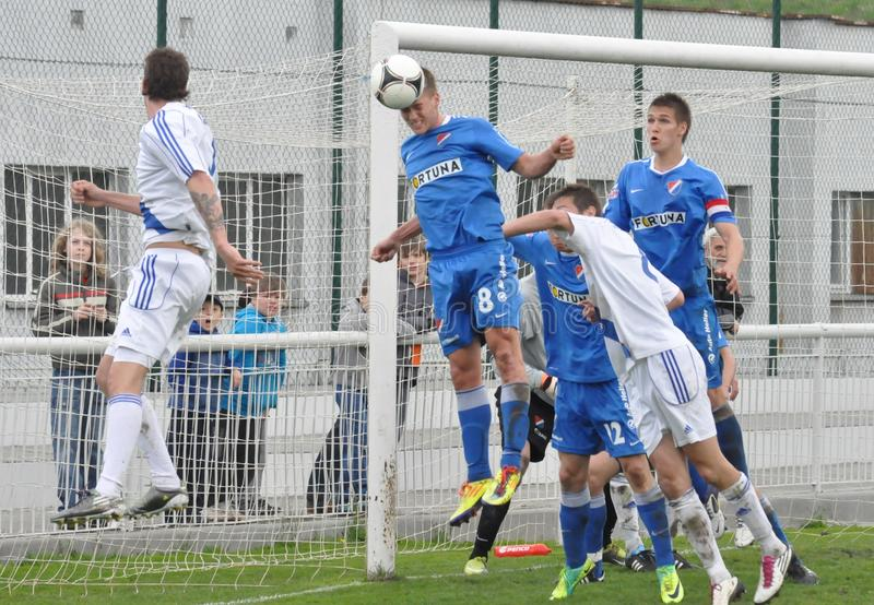 Moravian-Schlesische Liga, Fußballspieler von Frydek stock abbildung