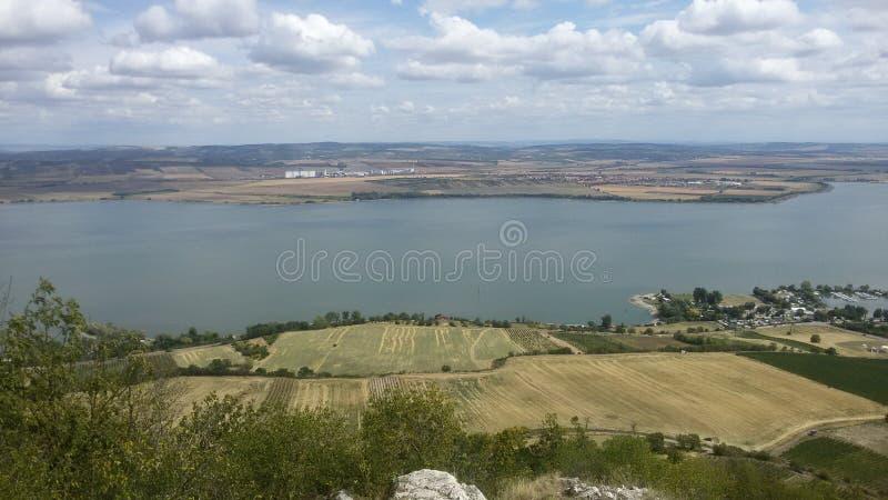 Moravian sjö royaltyfria bilder
