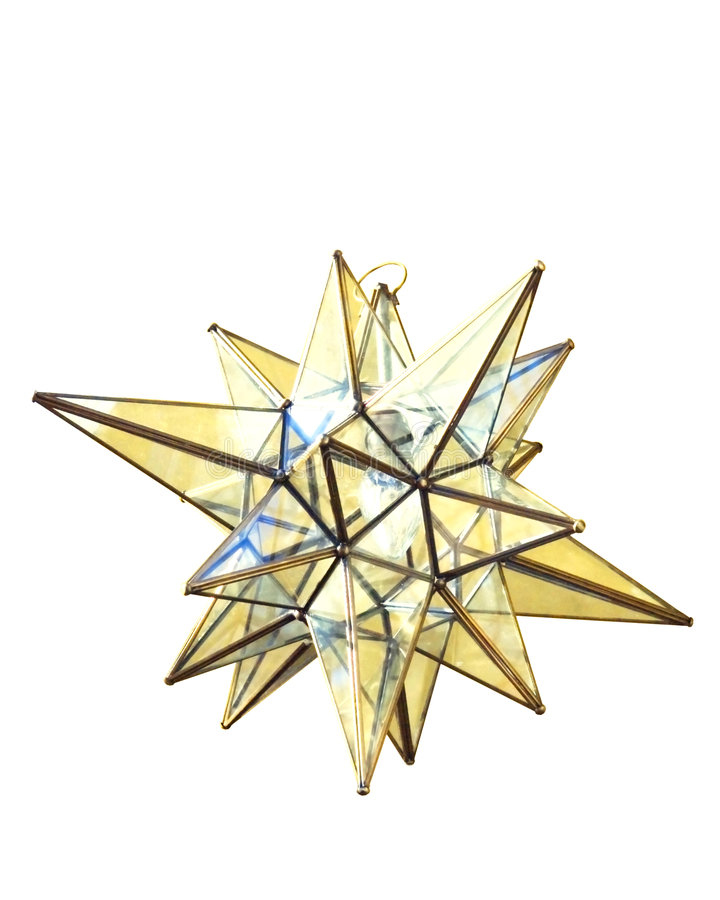 Download Moravian Star Lamp stock image. Image of decoration, leaded - 6089583