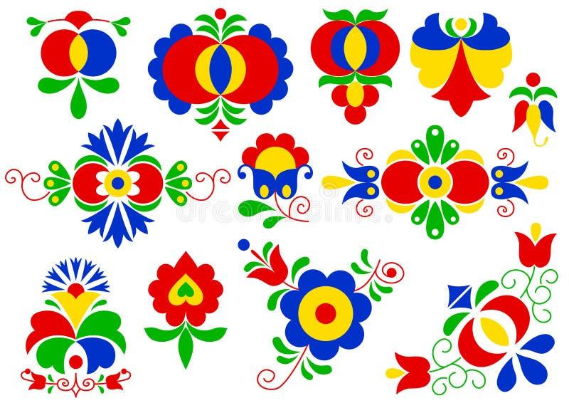 Morawscy lud ornamenty ilustracji