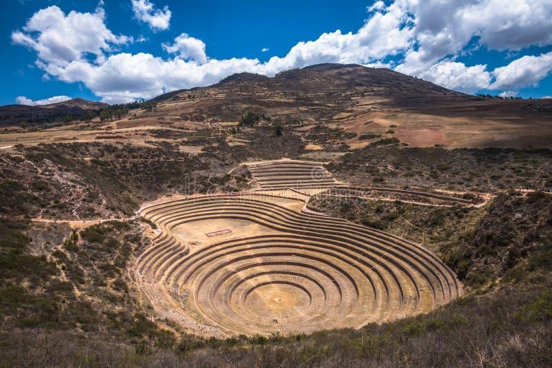 Moray, μια αρχαιολογική περιοχή κοντά σε Cusco, Περού στοκ εικόνα με δικαίωμα ελεύθερης χρήσης