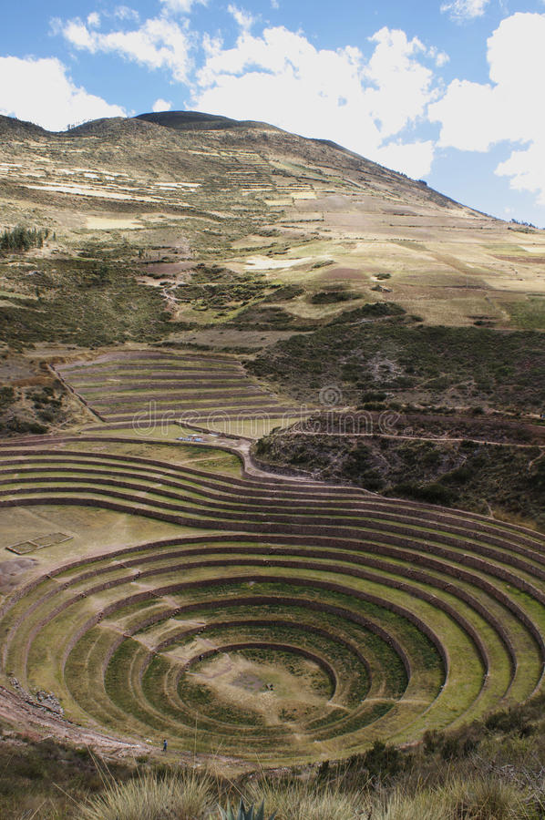 Moray. A well-known Incan landmark stock images