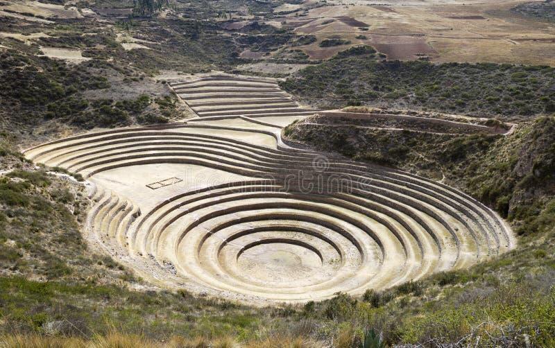 Moray ancient circular terraces. royalty free stock photos