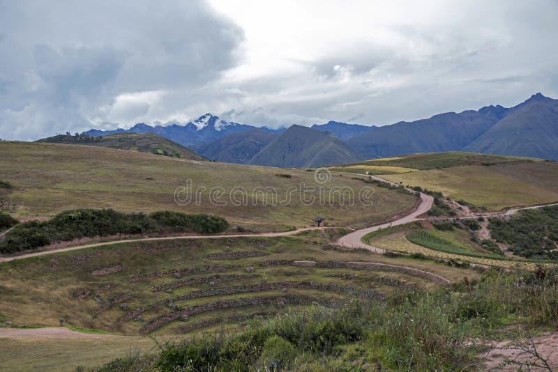 Moray archeologische plaats in Peru royalty-vrije stock fotografie