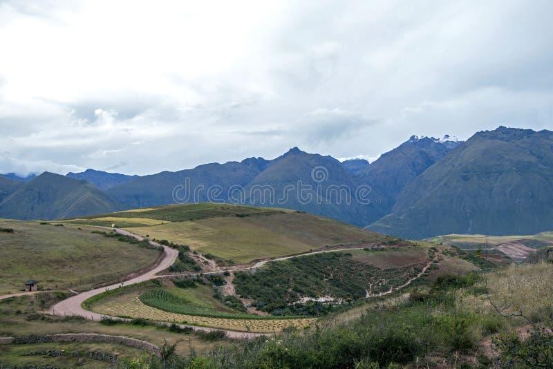 Moray archeologische plaats in Peru stock foto