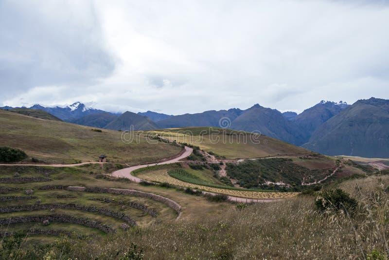 Moray archeologische plaats in Peru royalty-vrije stock foto