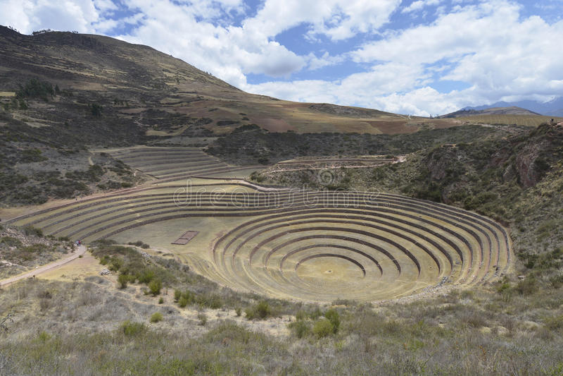 Moray, Cusco, Περού στοκ εικόνα