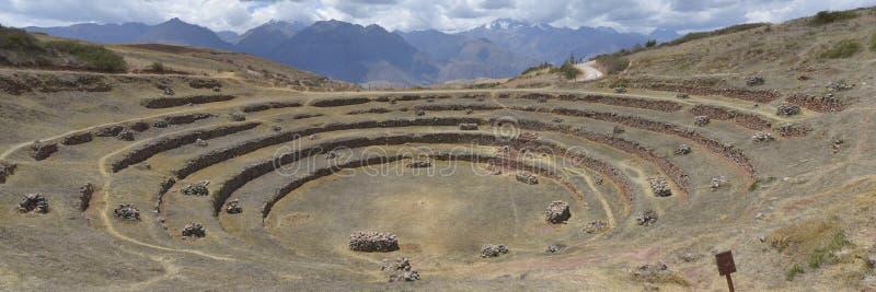 Moray Cusco, Peru arkivfoto