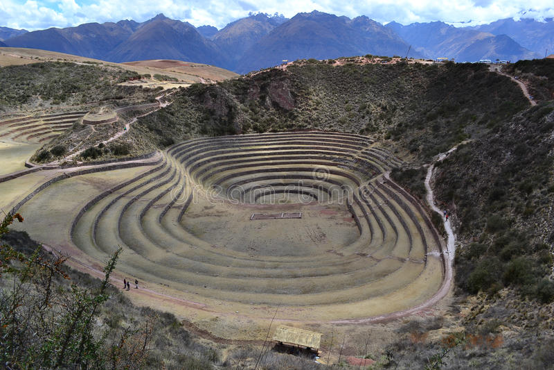 Moray (Quechua), Peru stock photography
