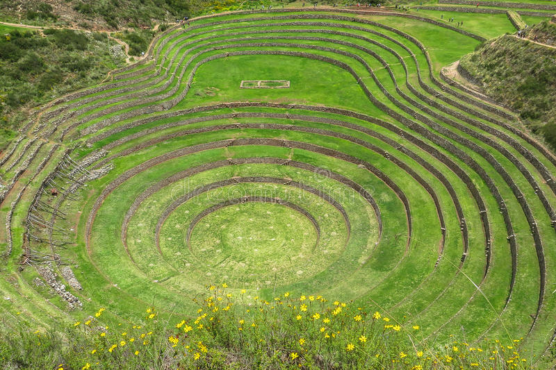 Moray Ruin in Cusco, Peru stock foto's