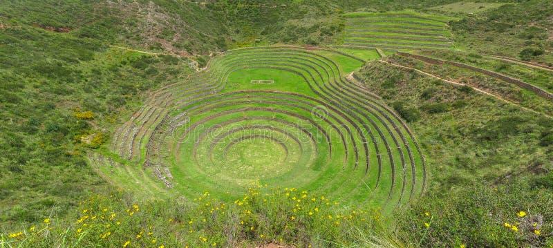 Moray Ruin en Cusco, Perú foto de archivo libre de regalías