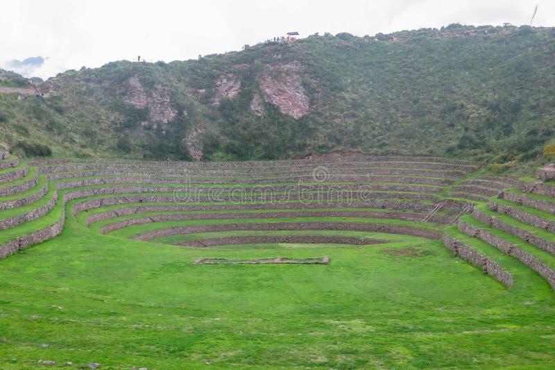 Moray Ruin en Cusco, Perú fotos de archivo