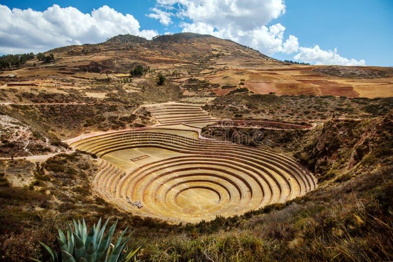 Moray circular terrace Ruins, Peru royalty free stock photography