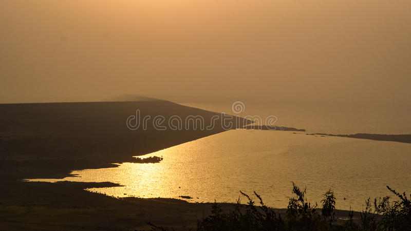 Morbe Dam, Karjat. Serene Morbe Dam at Karjat, India royalty free stock photos