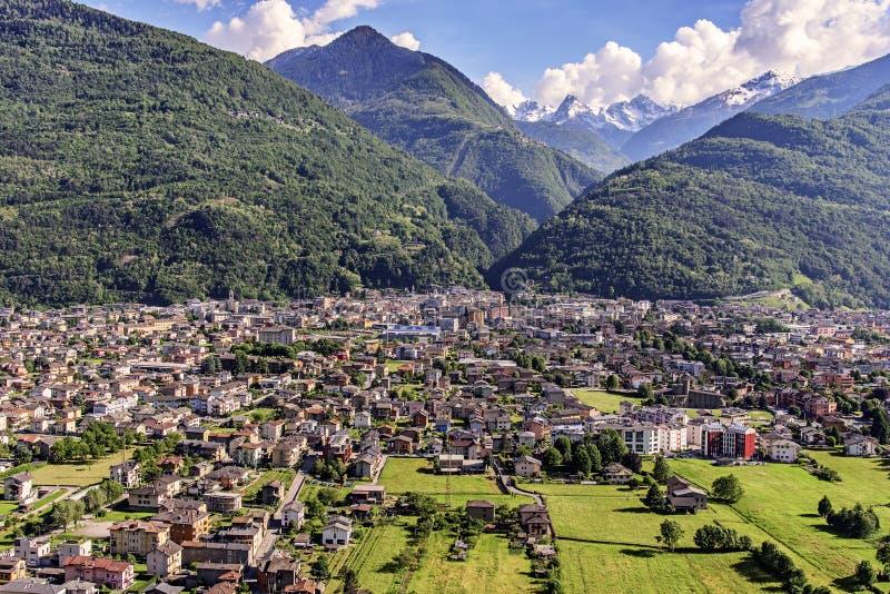 Morbegno in Valtellina, Italy stock photo