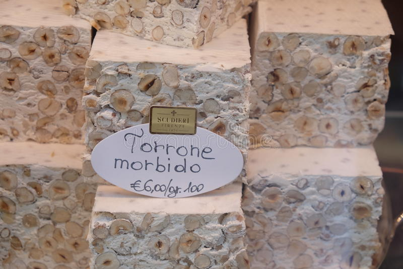 Morbido de Torrone fotos de archivo libres de regalías