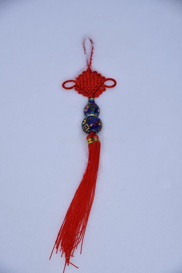 Morceau décoratif chinois de nouvelle année de décoration de bonne chance image libre de droits