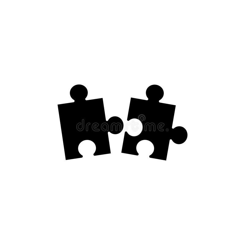 Morceau d'icône plate de vecteur de puzzle illustration de vecteur