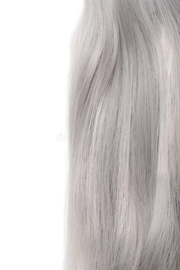 Morceau de cheveux gris photos libres de droits
